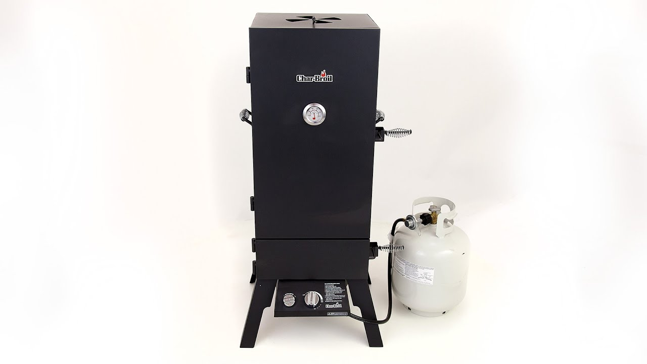 Char Broil Vertical Gas Smoker With Quick Access To