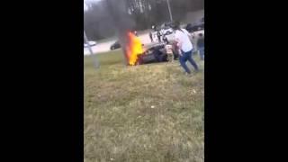 Car Catches Fire on 385 - Memphis, TN