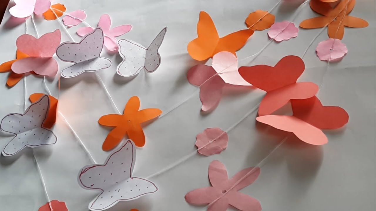 Making beautiful butterflies for home decoration
