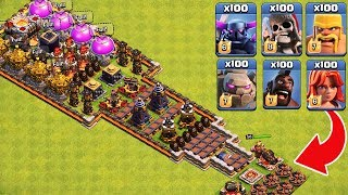 Who Can Survive This Difficult Trap on COC? Trap VS Troops #2