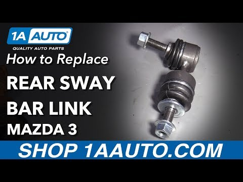 How to Replace Rear Sway Bar Links 04-13 Mazda 3