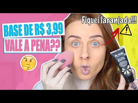 A BASE MAIS BARATA QUE JÁ TESTEI - R$ 3,99 | Priscila Simões