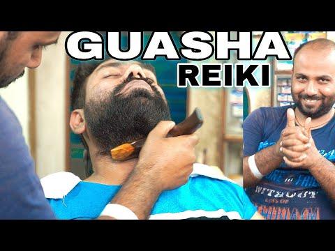 Reiki Master GUASHA Head Massage With Mustard Oil | ASMR | Indianbarber | Indianmassage