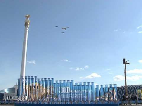 Авиация Казахстана, военный парад, 30.08.2011 г.