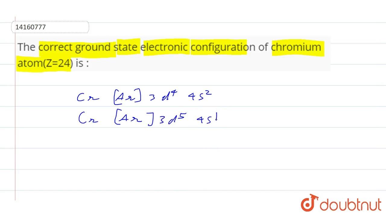 Electron Configuration For Chromium - cloudshareinfo