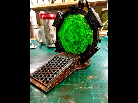 How To Make Warpgate Effects For Your Sci-Fi/Warhammer 40k Terrain for tabletop wargaming
