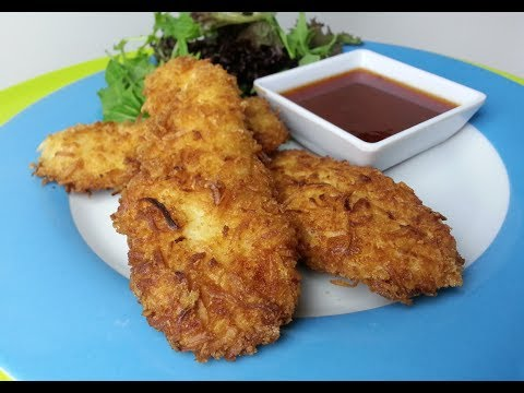 HOW TO MAKE CRUNCHY COCONUT CHICKEN