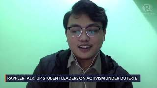 UP student leader: We don't feel safe with military, police
