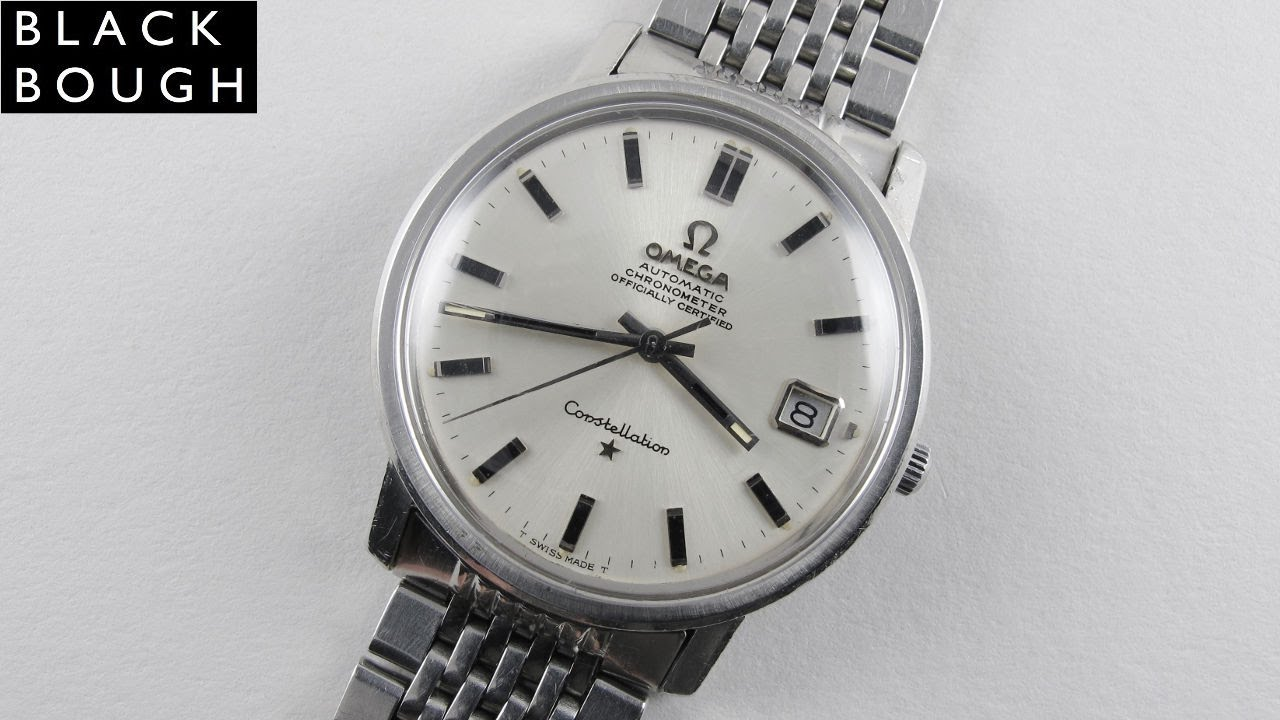 dac2d396e64 Steel Omega Constellation Chronometer Ref. 168.018 vintage wristwatch