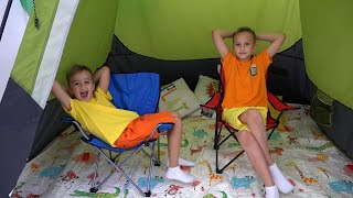 Vlad and Niki 24 Hours Overnight Tent Challenge