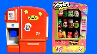 Shopkins So Cool Fridge ❤ Vending Machine Toy Storage Season2 Playset Shopping Baskets