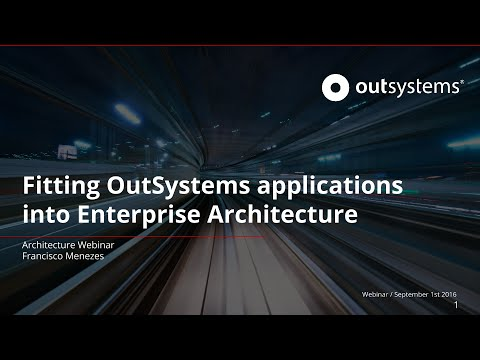 Fitting OutSystems applications into Enterprise Architecture