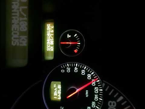 Вольво Volvo s60 2.4 140л.с. Мкпп.Расход топлива зима -19, режим трасса 90 км/ч