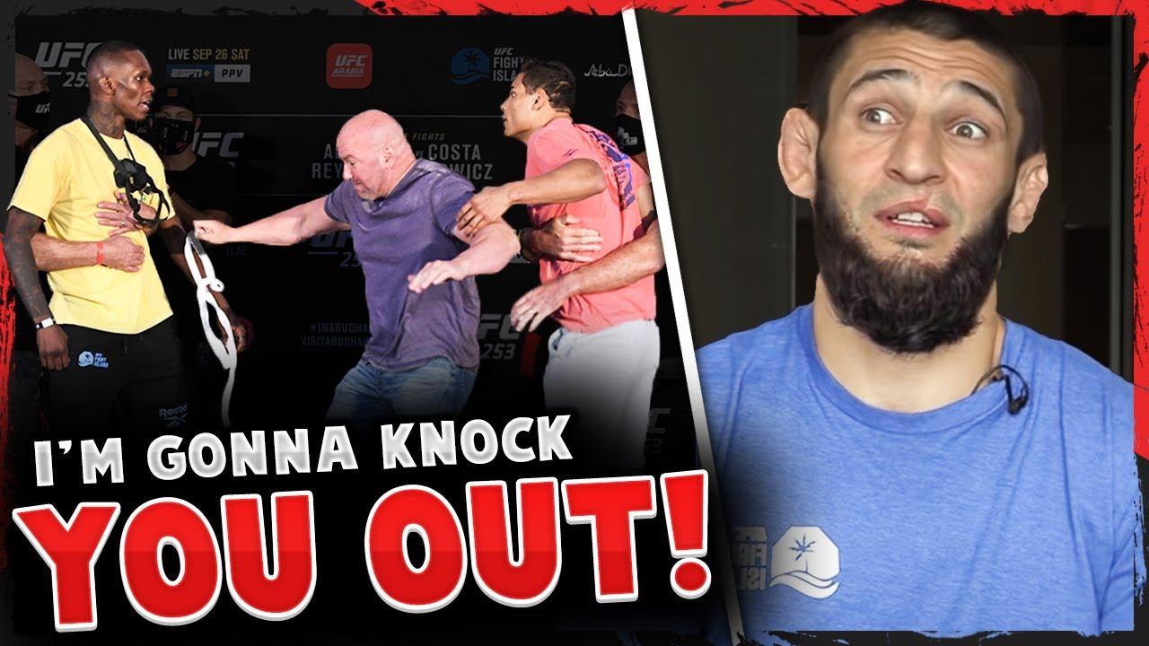 Reactions to ALTERCATION between Israel Adesanya & Paulo Costa, Khamzat Chimaev reacts, UFC 253