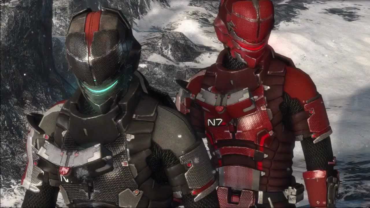 Dead Space 3 Mass Effect N7 Armor Youtube The aged metallic effect is achieved through different layers of painting techniques. dead space 3 mass effect n7 armor
