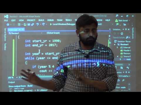 C++ Crash Course for last day prep - part 2/3, C++ Programming Lec 27/28