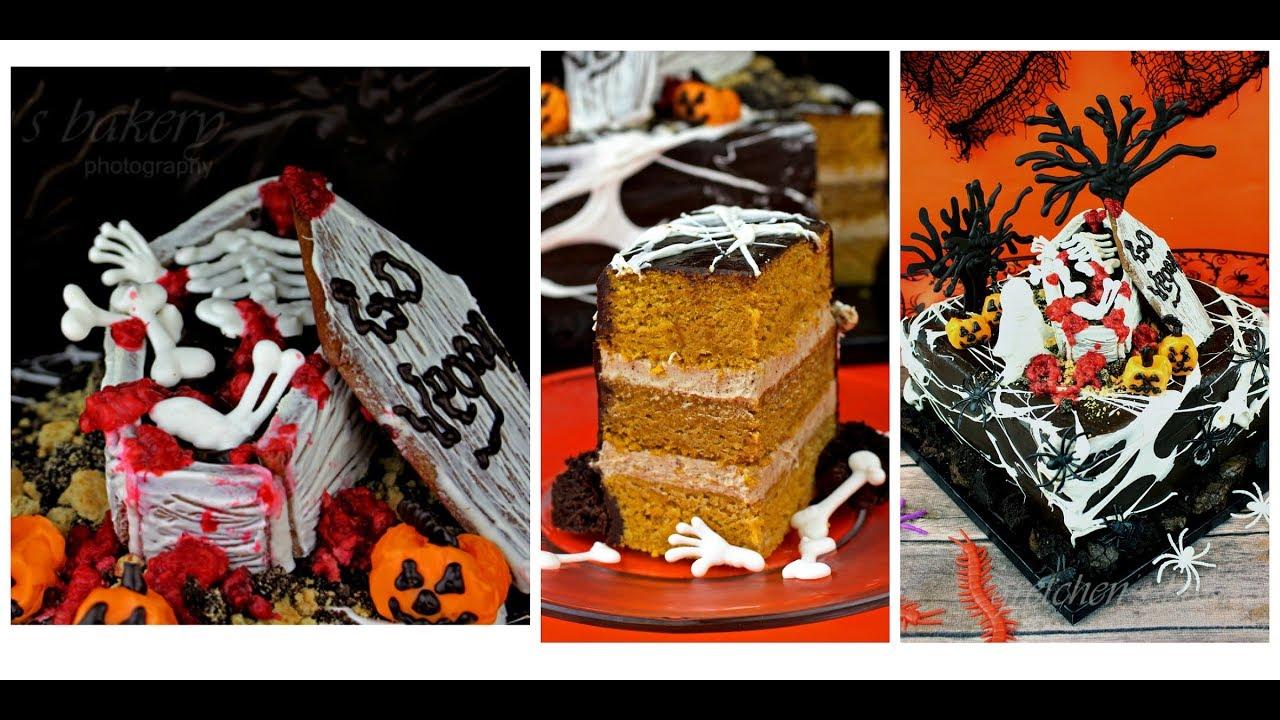 Halloween Graveyard Cake Decorating Ideas from i.ytimg.com