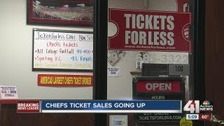 KC Chiefs ticket sales are rising.