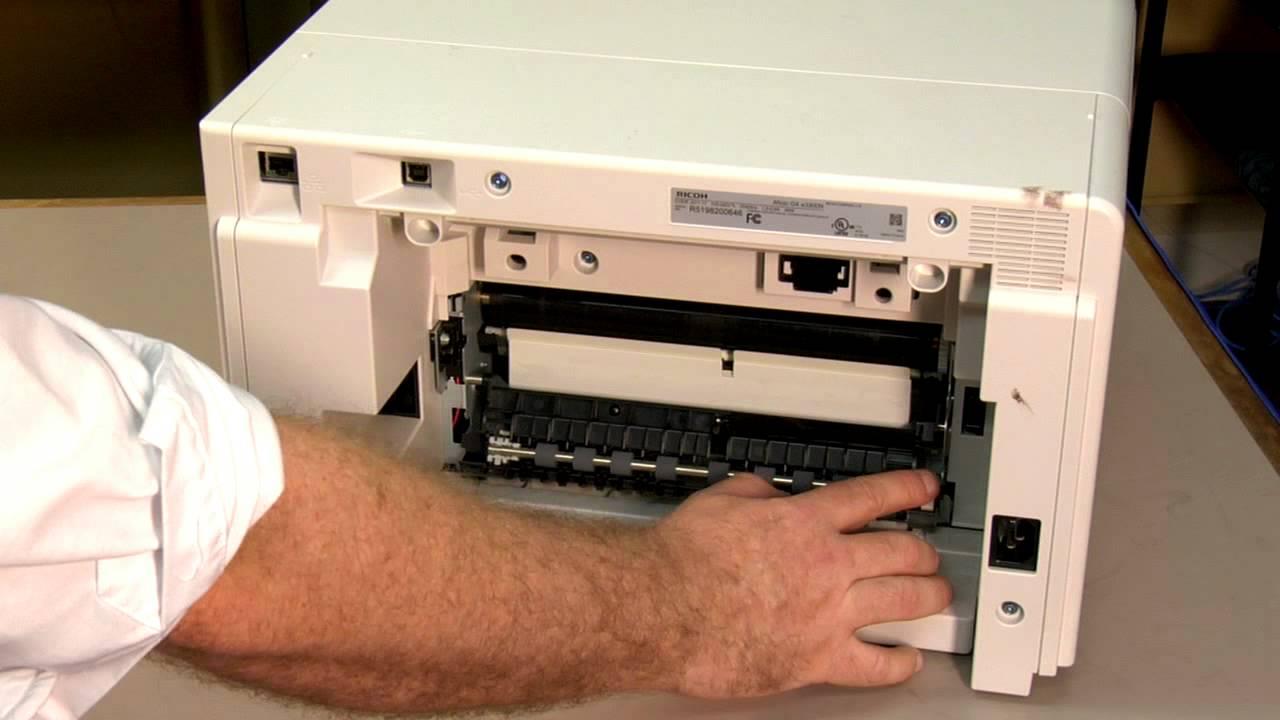 Clearing Paper Jams - Ricoh GX e3300N Printers -