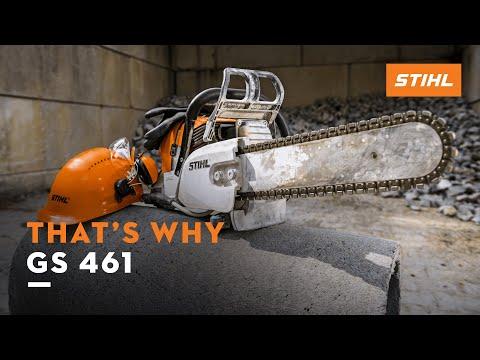 The Stihl Gs 461 Concrete Cutter Youtube