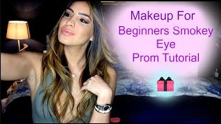 makeup for beginners smokey eye prom makeup tutorial