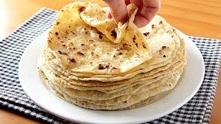 Receita de Tortillas Extra de Farinha – Queijo e Batata