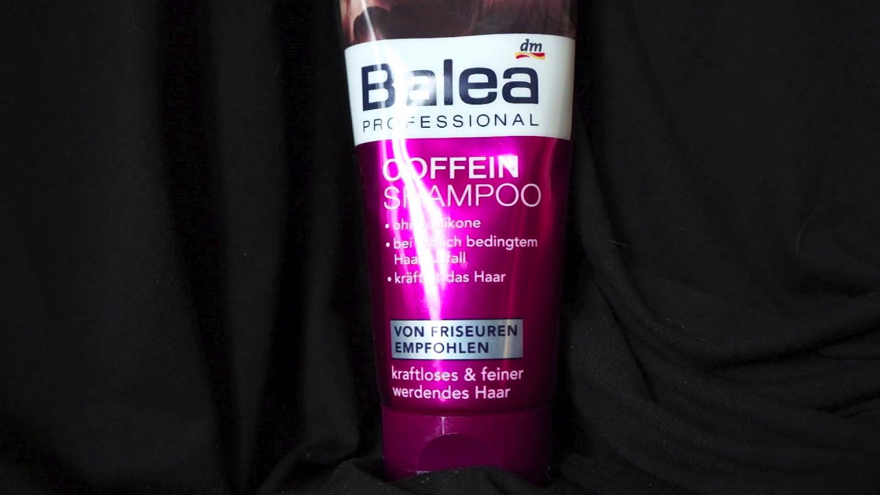 haare balea professional coffein shampoo youtube