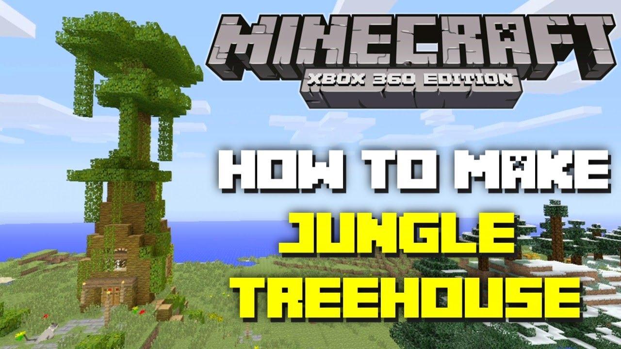 minecraft xbox 360 how to make a jungle treehouse tu12 tutorial