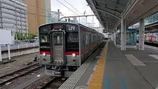 予讃線7200系 高松発車