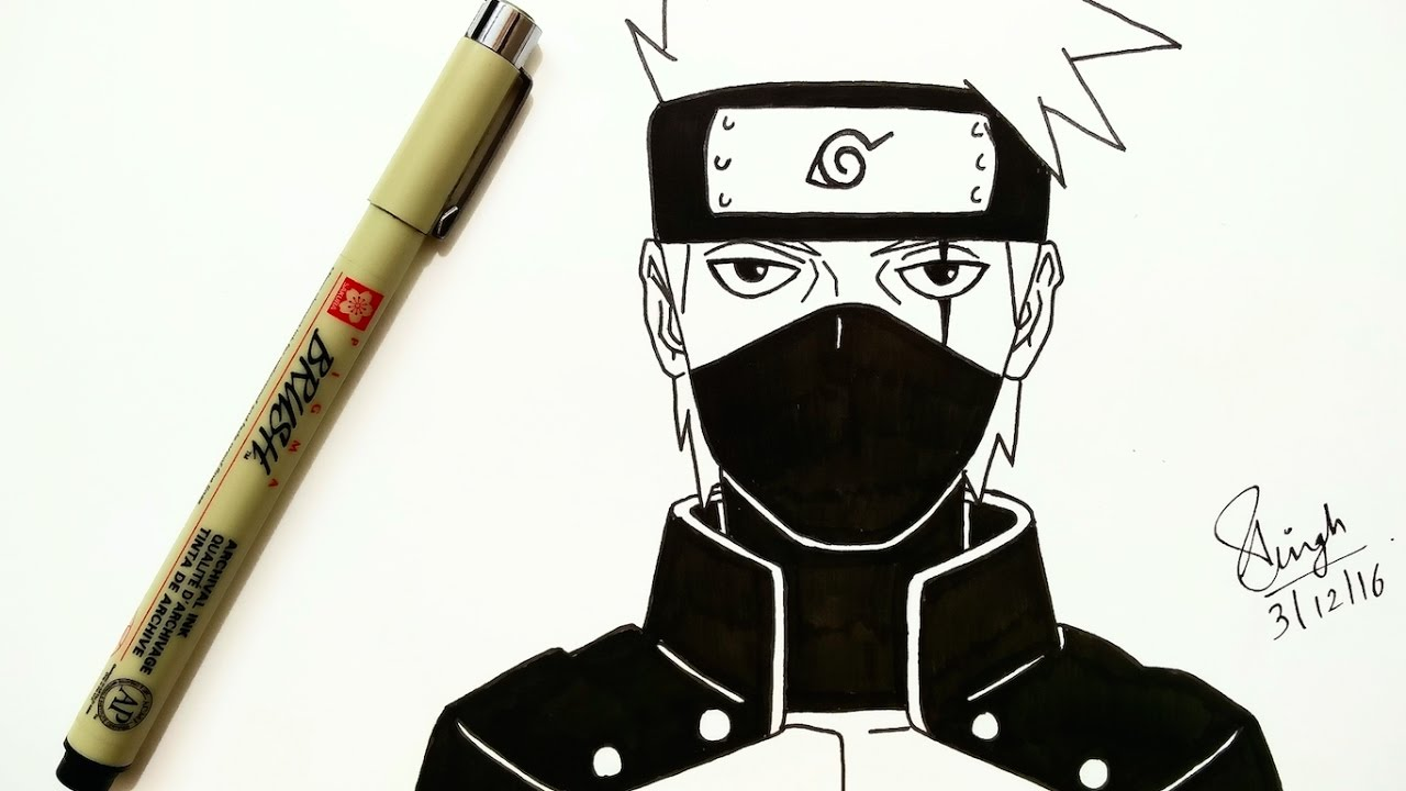Drawing Kakashi (Naruto Shippuden episode 484) - YouTube