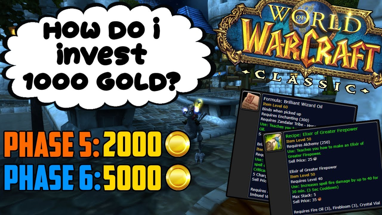 How I Would Invest 1000 Gold to Make Profit in Classic WoW