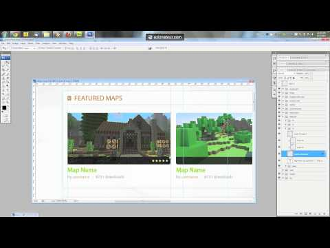 Coding MCMaps design from PSD to HTML/CSS