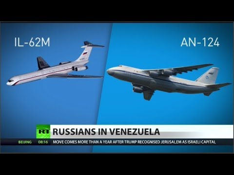 Why did Russian planes arrive in Venezuela?