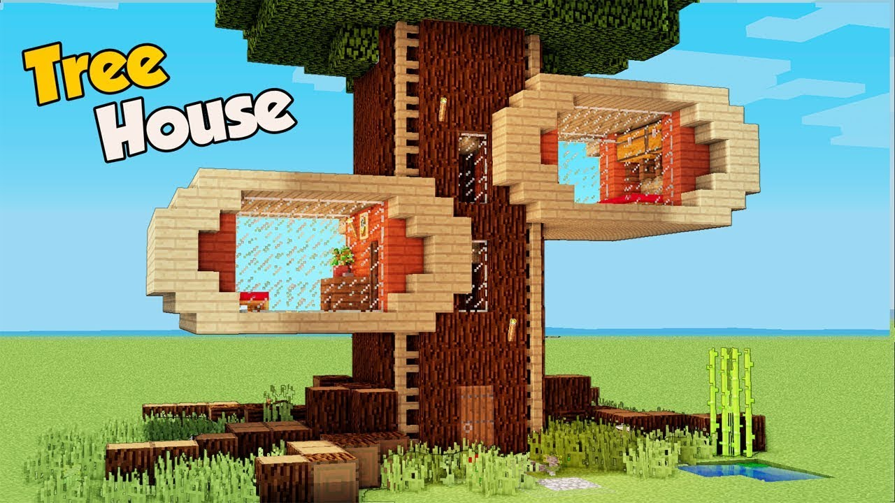 Minecraft how to build a 4 players tree house tutorial - Things to consider when building a house ...