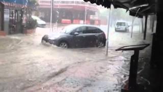 Freak storm in Palmanova, Majorca