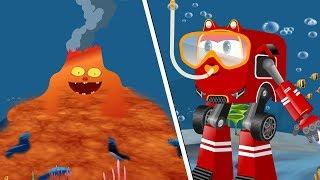 Supercar Rikki Finds Monster underwater Rescue Baby Shark & Kids | Car Cartoon Rhyme
