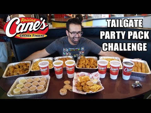 """8 lb Raising Cane's Family Pack Eating Challenge (25 Chicken Fingers) w/ """"Raina is Crazy"""""""