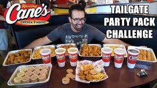 8 lb Raising Cane's Faṁily Pack Eating Challenge (25 Chicken Fingers) w/