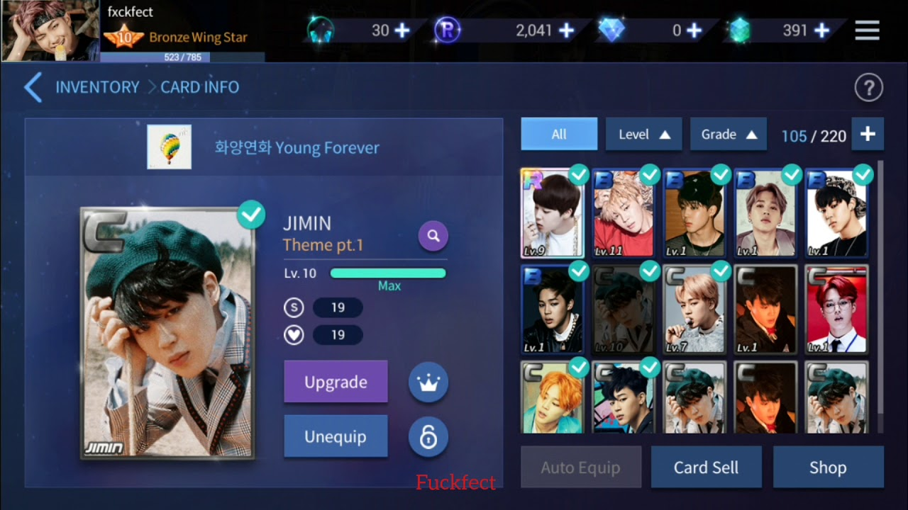 4593cf227b Superstar BTS  How Upgrade C card to B card  - YouTube