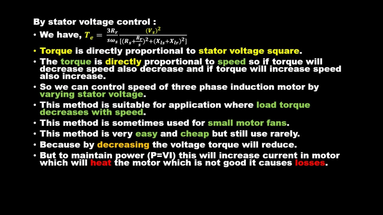 eee stator voltage control of three phase induction motor   eee stator voltage control of three phase induction motor