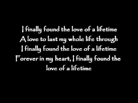 Love Of A Lifetime Youtube