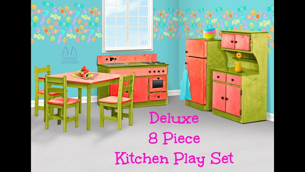 Complete Children\'s Kitchen Play Set - Amish Handmade Toy ...