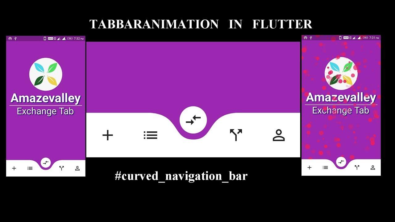 Curved Bar Navigation in Flutter || Amazevalley – Amazevalley