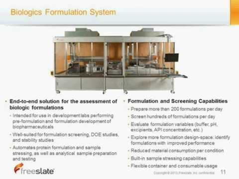 Freeslate | Highly-Automated Procedures for the Assessment of Protein Formulations