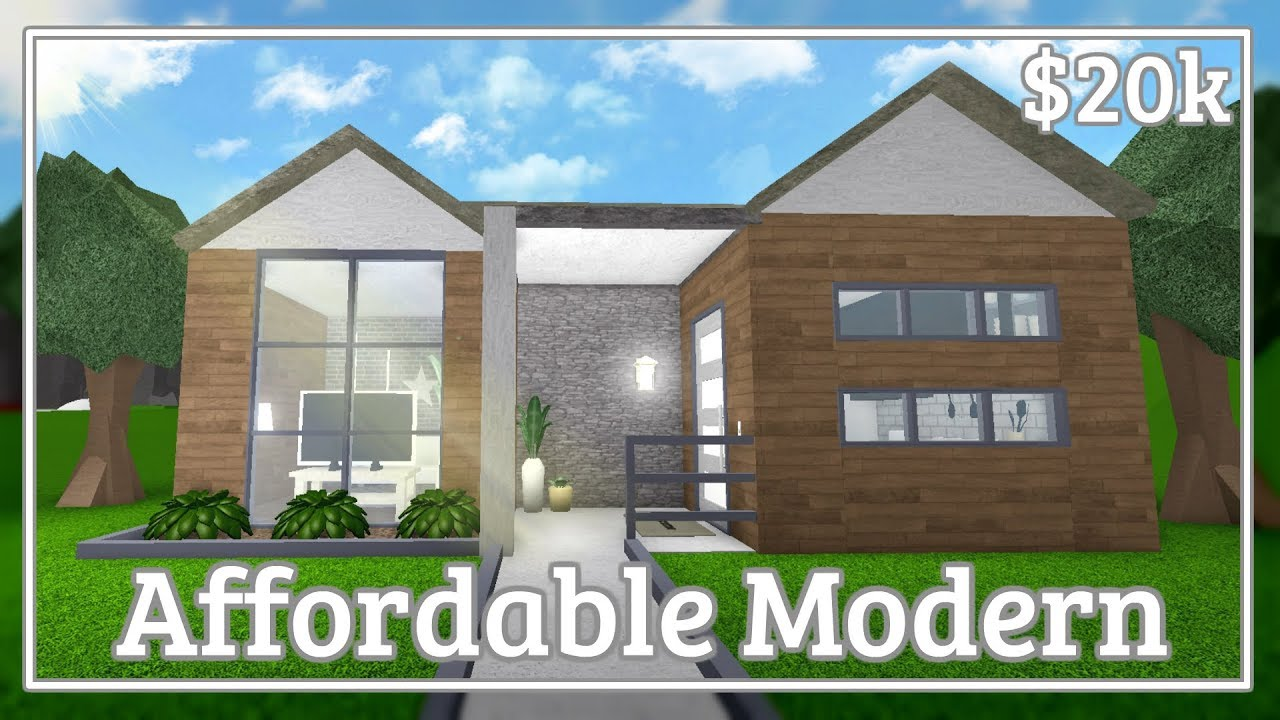 Bloxburg Affordable Modern House Speed Build Youtube