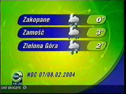 TVN24 - Pogoda, zapowiedź i krótki blok reklamowy (07 lutego 2004r.) [REUPLOAD]