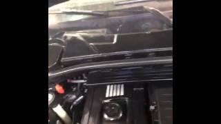 BMW 135I after engine shampoo and engine bay detail