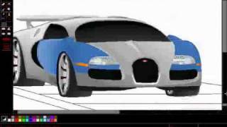 How To Draw A Bugatti Veyron ( MS Paint)