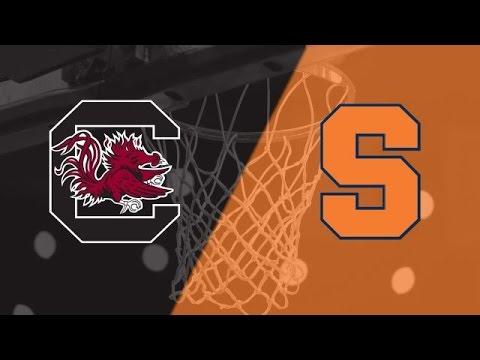 Syracuse vs South Carolina NCAA Basketball 2nd Half