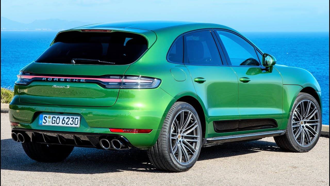 2019 Green Porsche Macan S The Sports Car In The Compact Suv Class